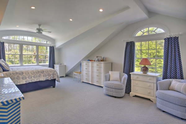 Master Suite with Bow Roof